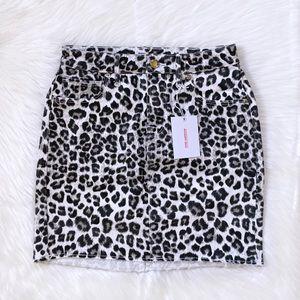 Good American Cheetah Print Mini Skirt
